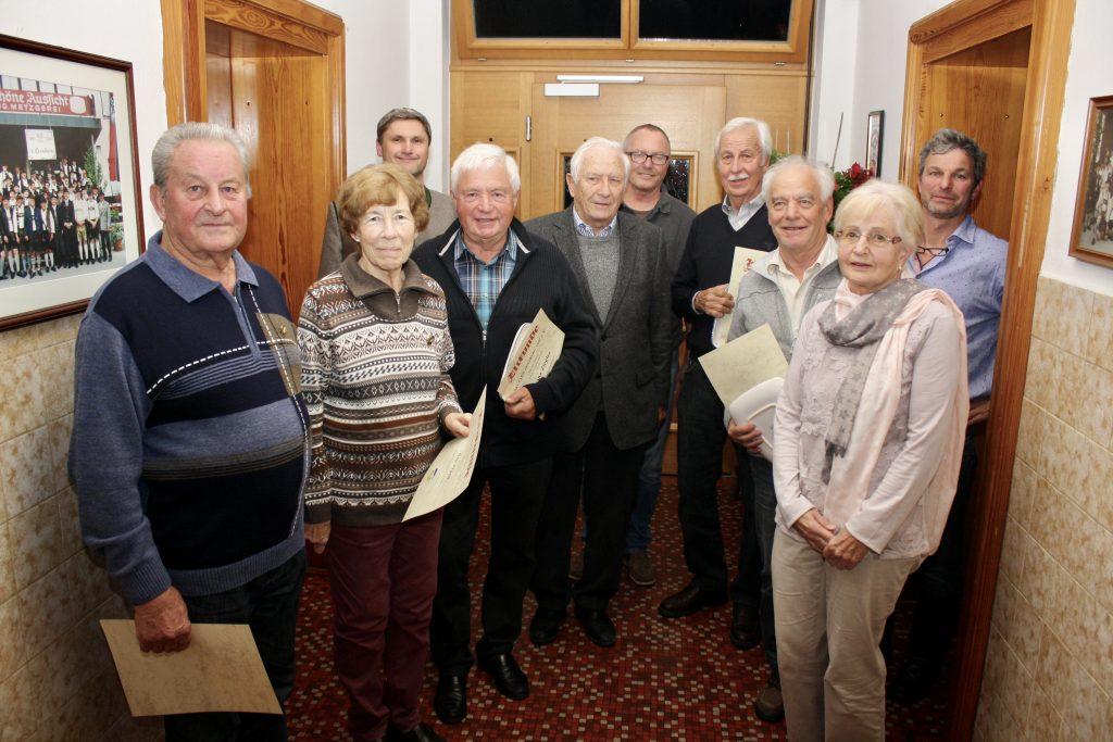 Der Ski-Club Penzberg ehrte auch in diesem Jahr langjährige Mitglieder.